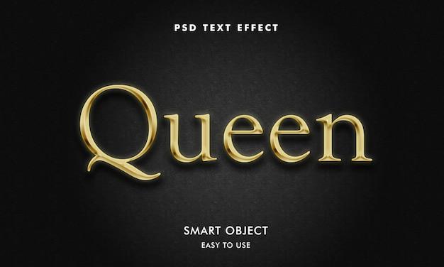 Modelo de efeito de texto rainha