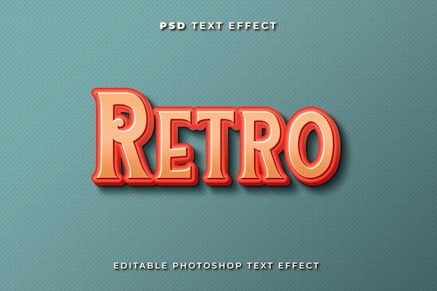 Modelo de efeito de texto retro 3d