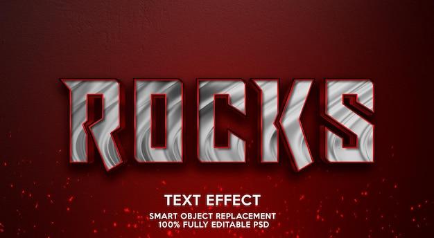 Modelo de efeito de texto rock