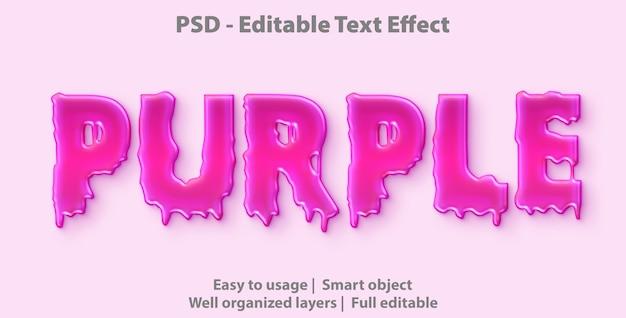 Modelo de efeito de texto roxo