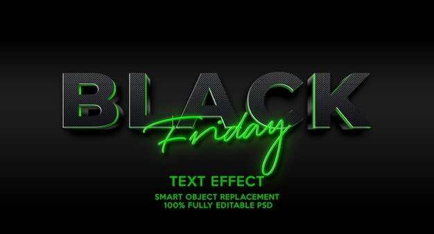 Modelo de efeito de texto sexta-feira negra