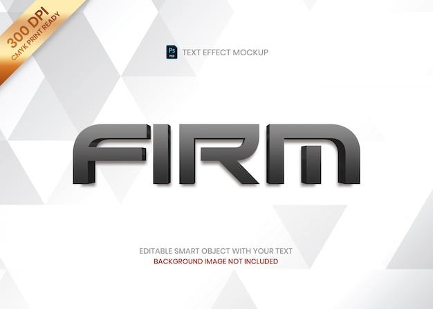 Modelo de efeito de texto simples logotipo elegante luxo gradiente escuro 3d