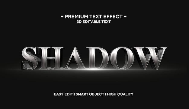 Modelo de efeito de texto sombra 3d com reflexo