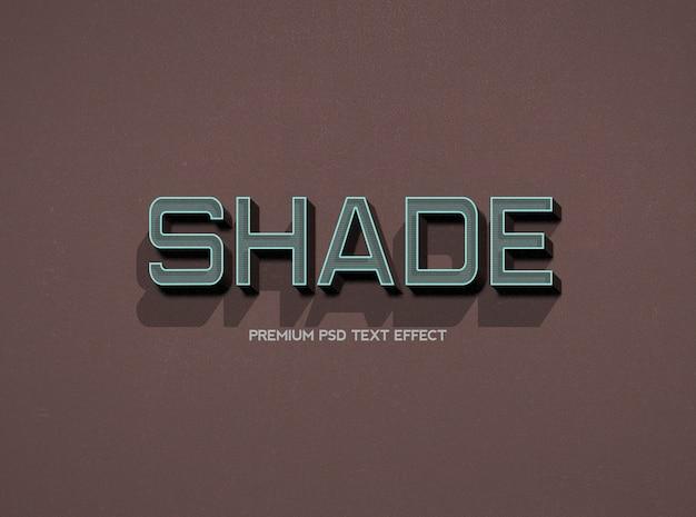 Modelo de efeito de texto sombreado com cor escura