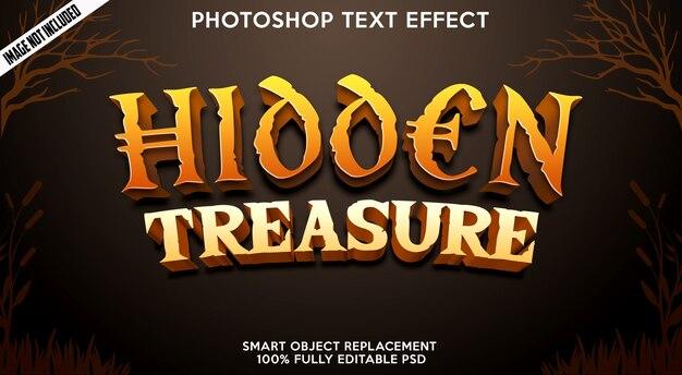 Modelo de efeito de texto tesouro oculto