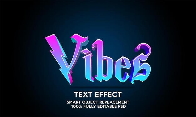 Modelo de efeito de texto vibrações