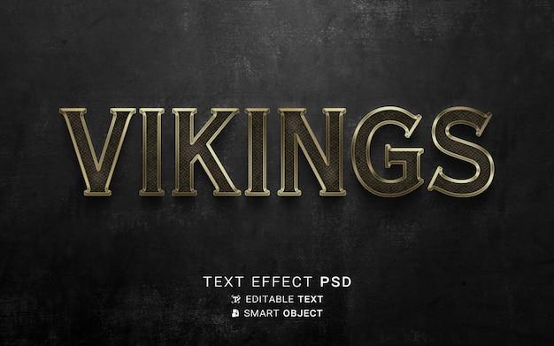 Modelo de efeito de texto vikings