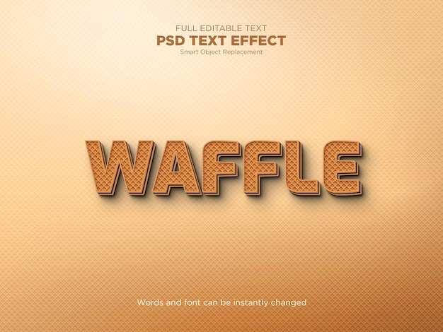 Modelo de efeito de texto waffle editável