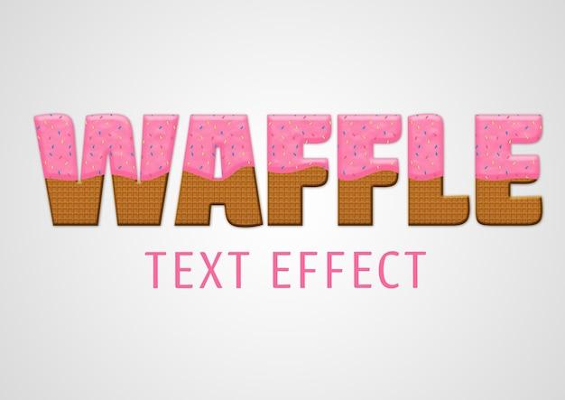 Modelo de efeito de texto waffle
