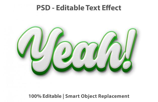 Modelo de efeito de texto yeah