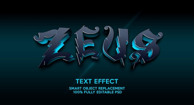 Modelo de efeito de texto zeuz