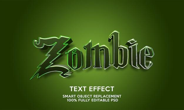 Modelo de efeito de texto zumbi