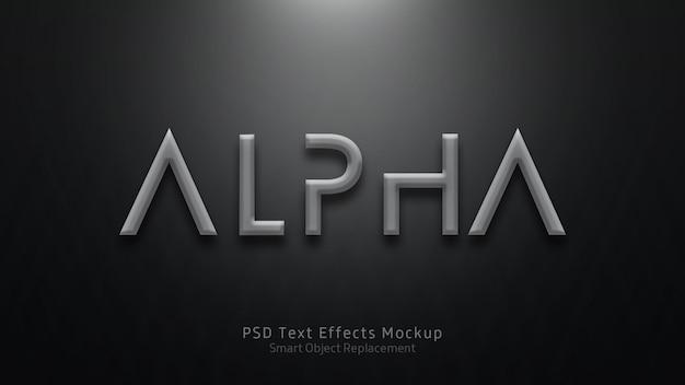Modelo de efeitos de texto alfa 3d