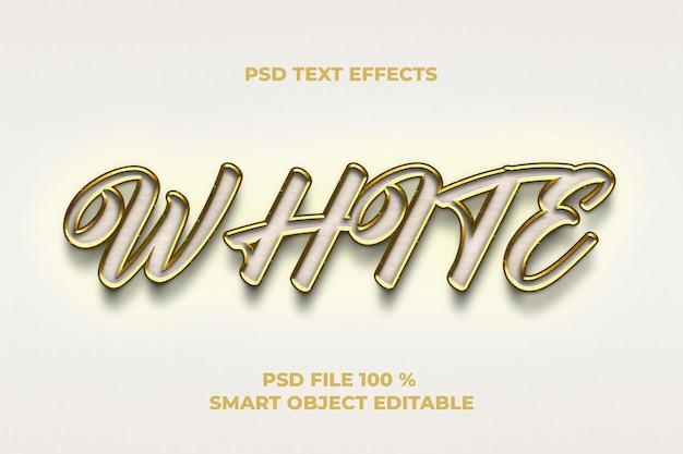 Modelo de efeitos de texto branco
