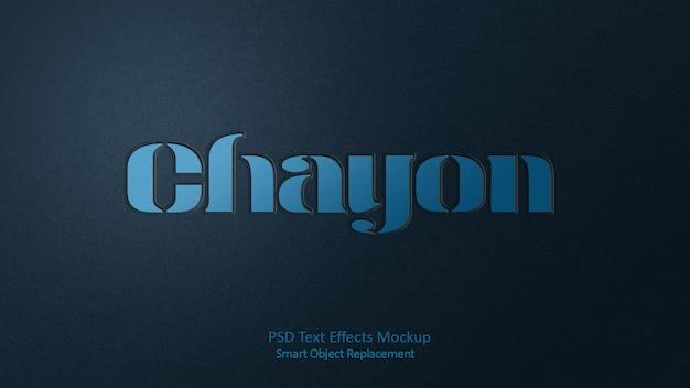 Modelo de efeitos de texto chayon 3d