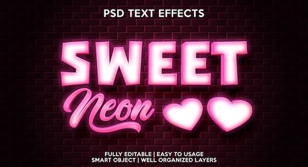 Modelo de efeitos de texto doce eon