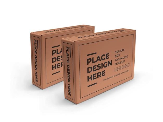 Modelo de embalagem de caixa retangular