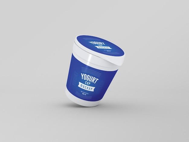 Modelo de embalagem de copo de iogurte