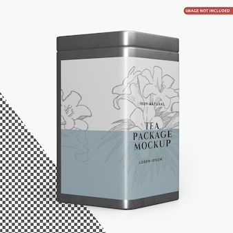 Modelo de embalagem para latas quadradas