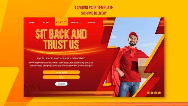Modelo de entrega de remessa da web