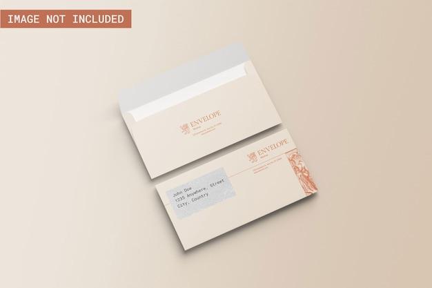 Modelo de envelope com ângulo esquerdo vie
