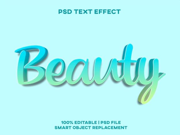 Modelo de estilo de efeito de texto de beleza