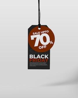 Modelo de etiqueta de etiqueta para black friday