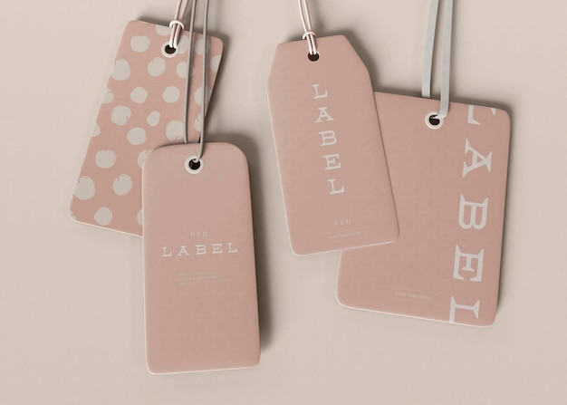 Modelo de etiqueta de etiqueta