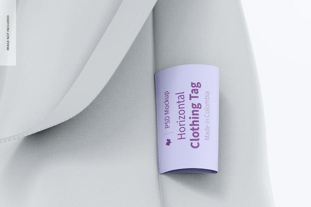 Modelo de etiqueta de roupa horizontal 02