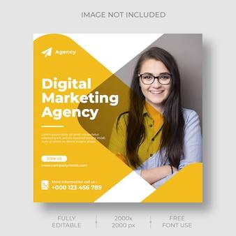 Modelo de feed de postagem do instagram para marketing digital