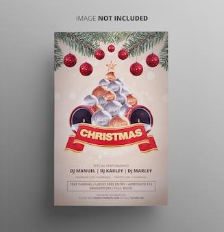 Modelo de festa de panfleto de natal