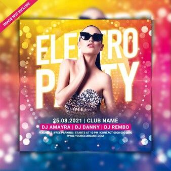 Modelo de flyer de festa electro noite