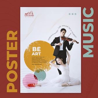 Modelo de flyer de música com foto