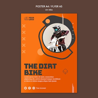 Modelo de flyer para bicicleta suja