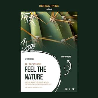 Modelo de flyer para sentir a natureza