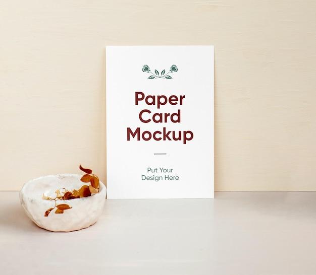 Modelo de folha de papel a4