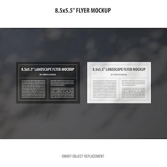 Modelo de folheto 8,5x5,5