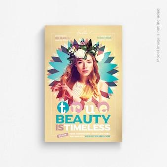 Modelo de folheto - a verdadeira beleza é intemporal
