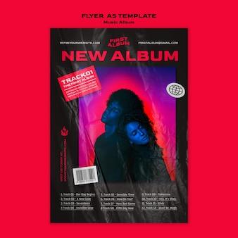 Modelo de folheto a5 de álbum de música