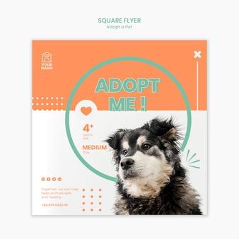 Modelo de folheto adotar animal de estimação