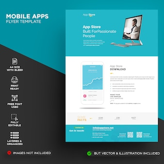 Modelo de folheto - aplicativo móvel