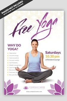 Modelo de folheto - aula de yoga