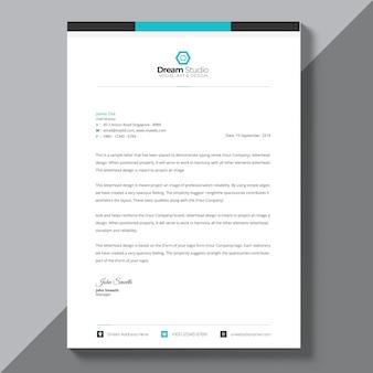 Modelo de folheto azul corporativo