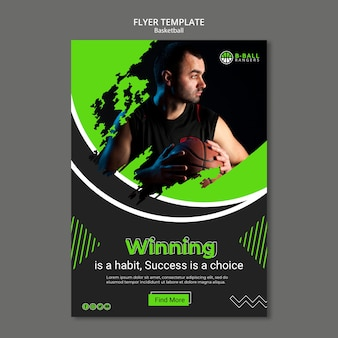 Modelo de folheto - basquete