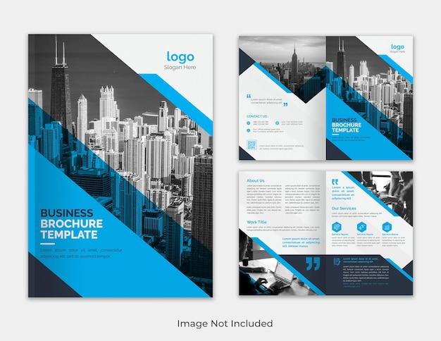 Modelo de folheto bifold de proposta de negócios minimalista moderna e multifuncional