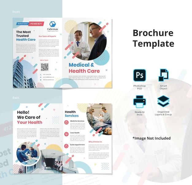 Modelo de folheto bifold de saúde