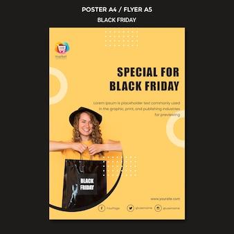 Modelo de folheto black friday