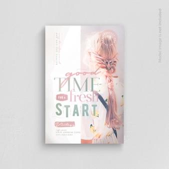 Modelo de folheto - bom momento para um novo começo