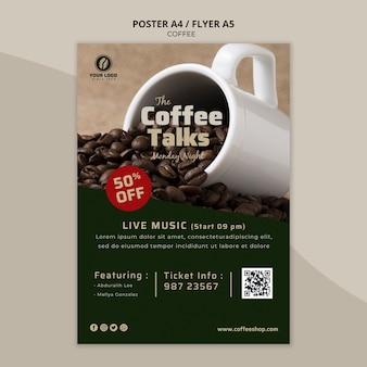 Modelo de folheto - café delicioso