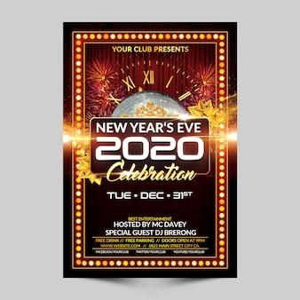 Modelo de folheto - celebração de véspera de ano novo